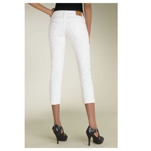 True Religion Jeans Kate Cropped White Slim 26